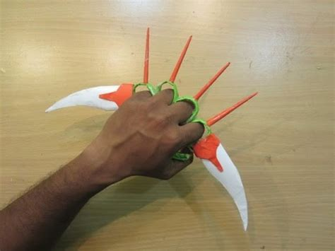 How To Make A Blade Out Of Paper - how to make a paper knuckles sword easy paper knife