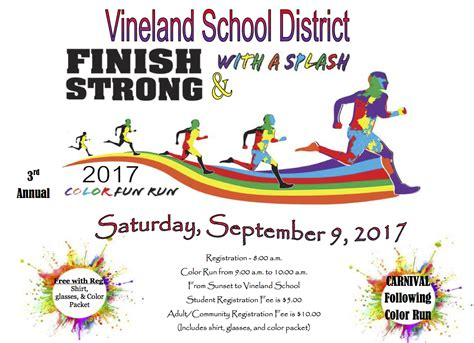 color run registration color run and carnival september 9 2017 vineland