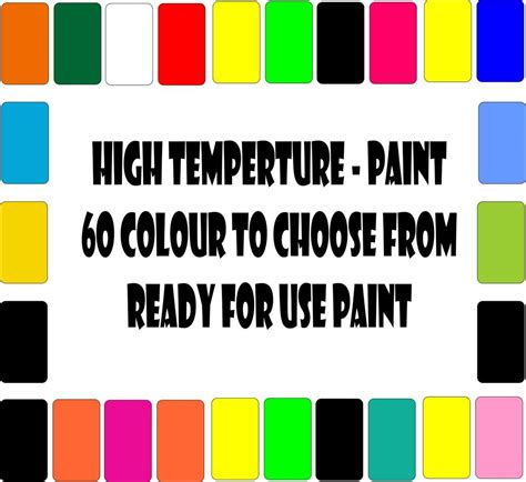 heat resistant paint colors high temperature heat proof paint steel metal engine