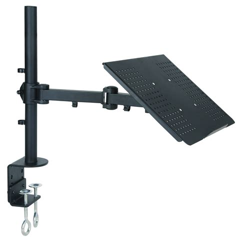 Desk Laptop Mount Single Laptop Notebook Desk Mount Stand Fully Adjustable Extension Cl