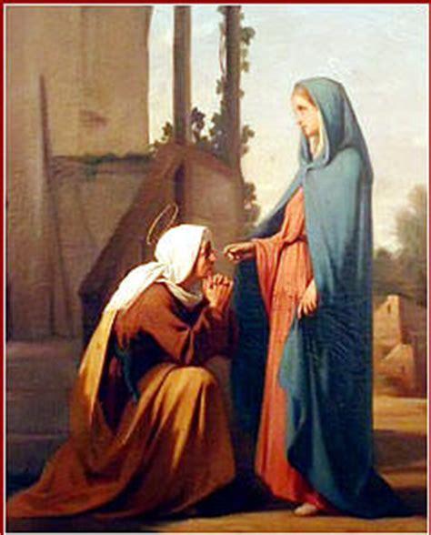 imagen de la virgen maria visitando a su prima isabel la visitaci 243 n de mar 237 a a santa isabel