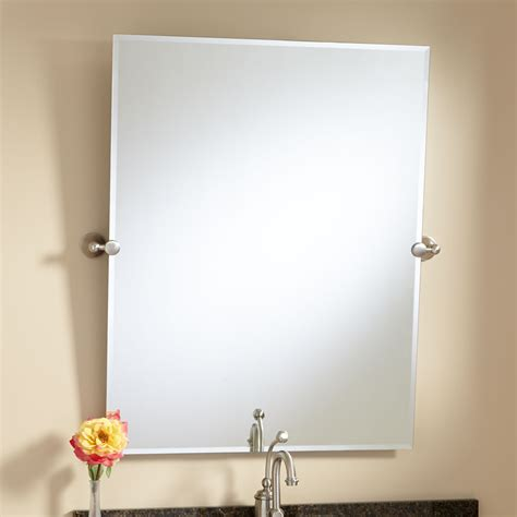 brushed nickel bathroom mirrors design ideas for brushed nickel bathroom mirro 20715