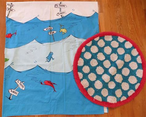 dr seuss rugs pottery barn dr seuss one fish two fish shower curtain rug ebay