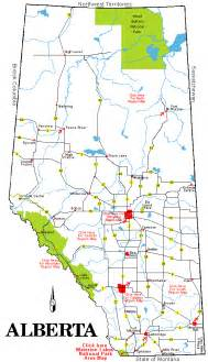 road map of alberta canada