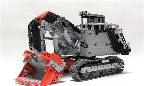 lego  technic bagger liebherr  excavator