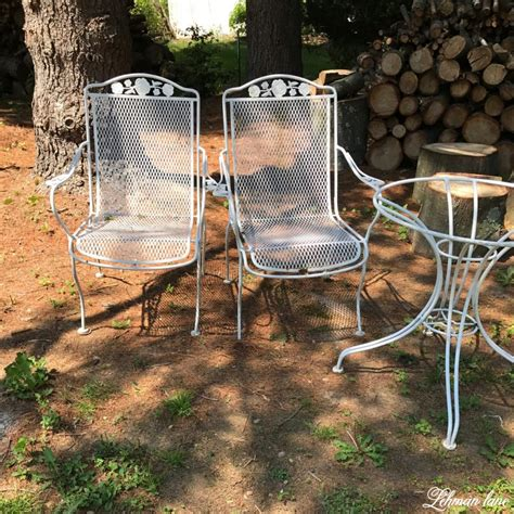 Painting Patio Furniture by Spray Paint Patio Furniture Our Vintage Wrought Iron