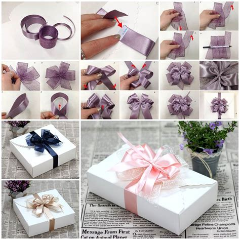 diy decorations ribbon diy ribbon bow for gift box packaging