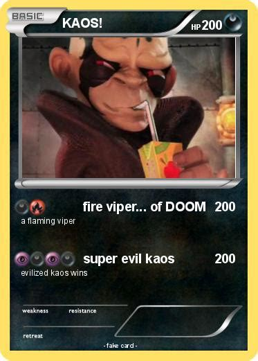 Kaos Go Poke1 Wh evil kaos card images images