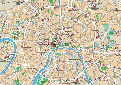 moscow map large detailed road map of moscow city center moscow city center large detailed road map