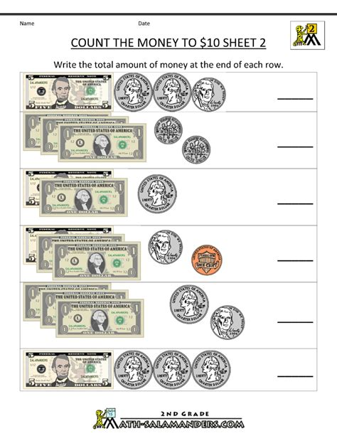 money money money worksheet printable money worksheets to 10