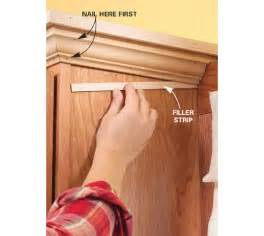 How To Install Molding On Kitchen Cabinets Installing Crown Molding On Kitchen Cabinets Kitchen Design Photos