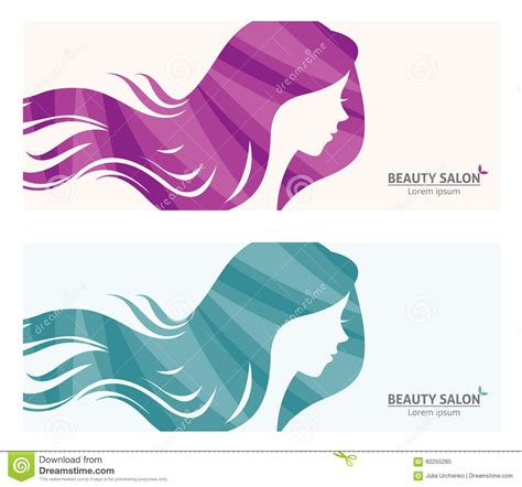 Banner Or Business Card Stylized Woman Profile For Beauty