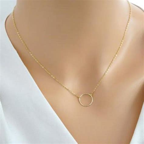 Kalung Circle Necklace aliexpress buy gold chain necklace for