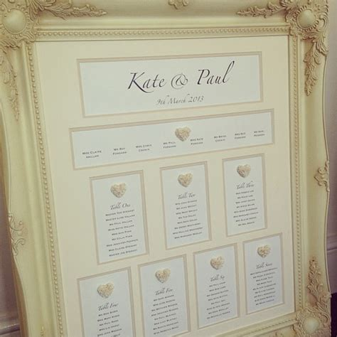 Wedding Table Plan Ideas Mirror And Frame Wedding Seating Plans