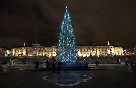 the trafalgar square christmas tree metro uk