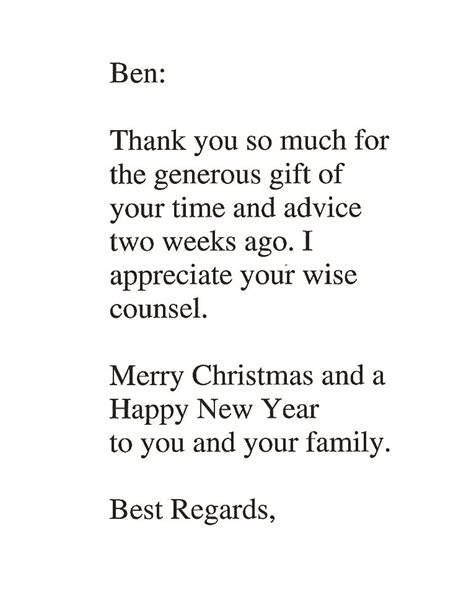 Thank You Letter For Your Time Thank You So Much For The Generous Gift Of Your Time Benglasslaw
