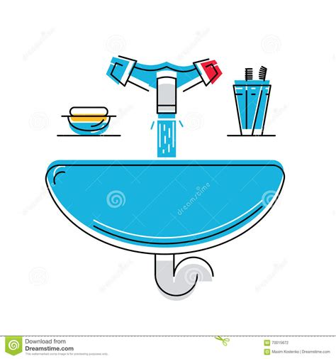 how to draw a bathroom sink bathroom sink with soap and toothbrushes line style