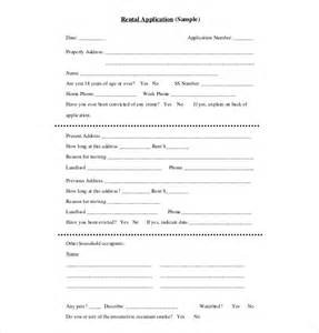 basic application form template rental application template 10 free word pdf documents