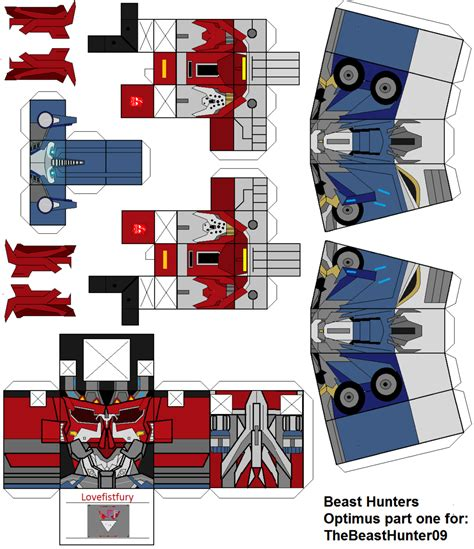 image gallery transformers papercraft