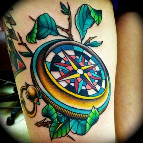coloured compass tattoo compass tattoo designs best tattoo 2014 designs and
