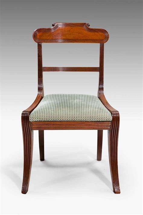 Period Dining Chairs Set Of Ten Regency Period Dining Chairs At 1stdibs