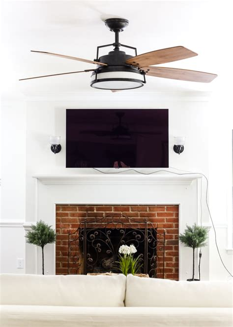 room fans home living room update ceiling fan swap bless er house