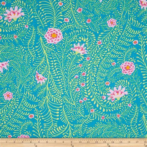designer home decor fabric kaffe fassett collective ferns turquoise discount