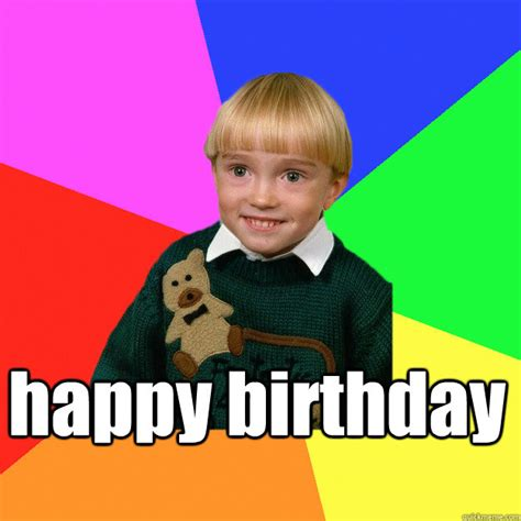 Kids Birthday Meme - happy birthday creepy kid meme you cant relate to