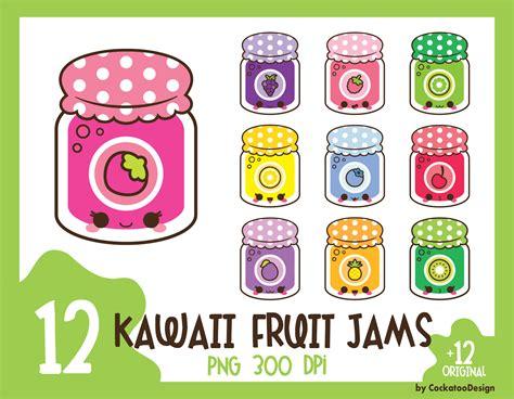 kawaii clipart 35 kawaii jam clipart fruit jam clip kawaii