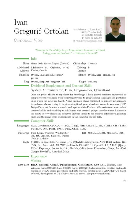 resume template pdf cv pattern pdf