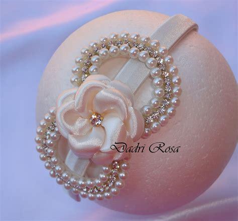 tiara la 231 o p 233 rolas c strass e flor dadri rosa tiaras e