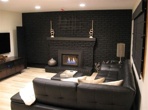 Black Painted Brick Fireplace by 25 Best Ideas About Black Brick Fireplace On