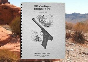 Colt Challenger 22 Cal Automatic Pistol Owners Manual Ebay