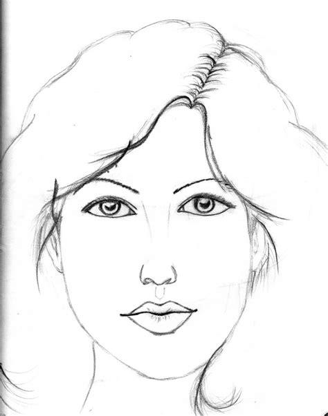 imagenes para dibujar rostros rostro de una chica por saikano dibujando