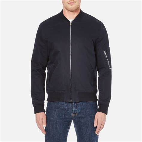 Bomber Bordir Jacket Martin Space Army a p c s bomber ma1 jacket navy free uk delivery 163 50