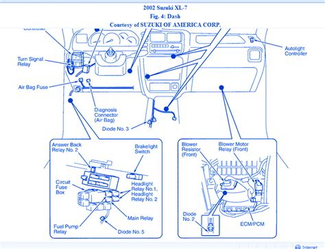 2007 suzuki xl7 tailight wiring diagram xl swissknife co