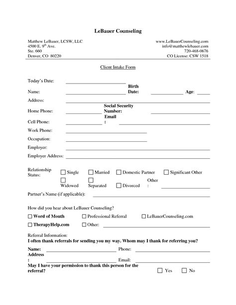 customer intake form template new client intake form template fogiid clipart kid