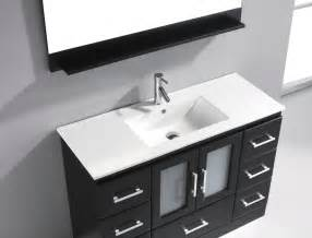 discount bathroom vanities with sink zola 47 quot modern single sink bathroom vanity by virtu usa