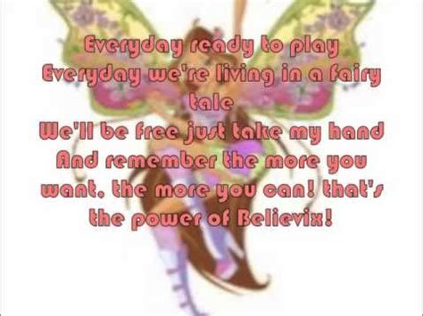 English Themes Songs | winx club season 4 theme song rai english with lyrics