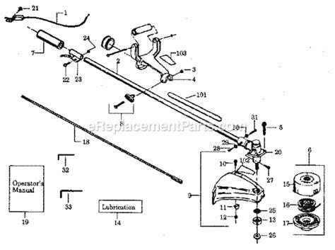 craftsman 32cc wacker parts diagram craftsman 358797161 parts list and diagram