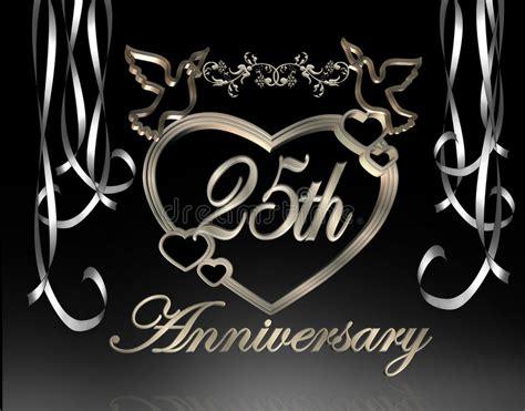 Hochzeit 5 Jahrestag by 25 Hochzeits Jahrestag Stock Abbildung Illustration