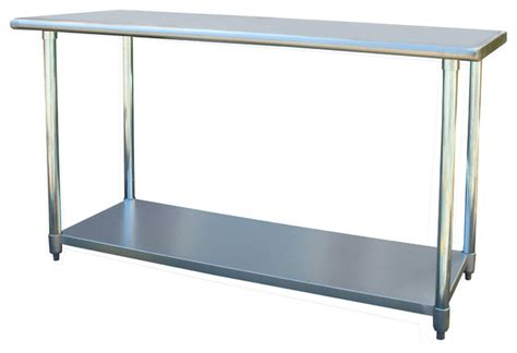 stainless steel kitchen work table island sportsman series stainless steel work table 24 x 60 inches