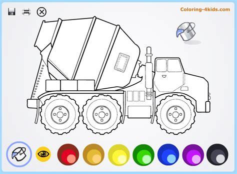 coloring concrete concrete truck coloring pages coloring 4kids