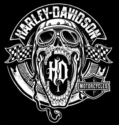 design kaos harley harley davidson illustrations