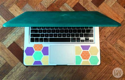 Decorate Laptop by Washi Honeycomb Laptop Decor I Try Diy