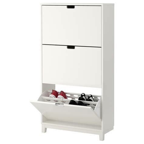 shoe compartment storage st 196 ll shoe cabinet with 3 compartments white 79x148 cm ikea