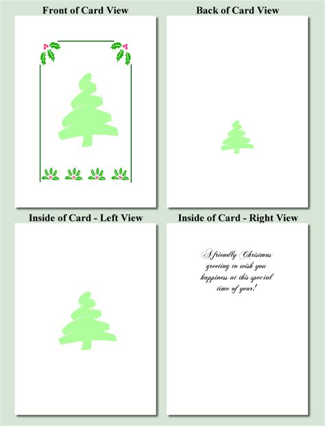 Free Tree Templates For Cards by Free Printable Cards Search Results New