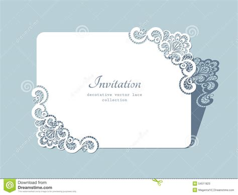 credit card wedding invitation template rectangle lace frame stock vector image 54511823