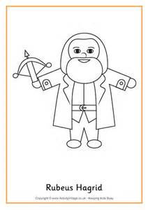 harry potter coloring pages easy hagrid colouring page