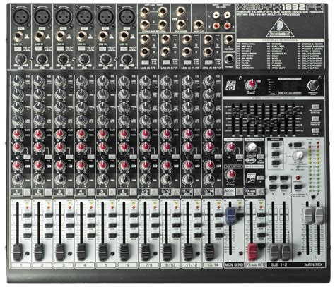 behringer xenyx 1832fx ljud ljus uthyrning event media studio acquris media security
